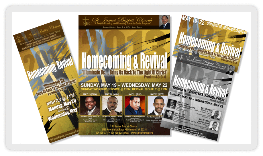 Homecoming Church Flyer Ibovnathandedecker