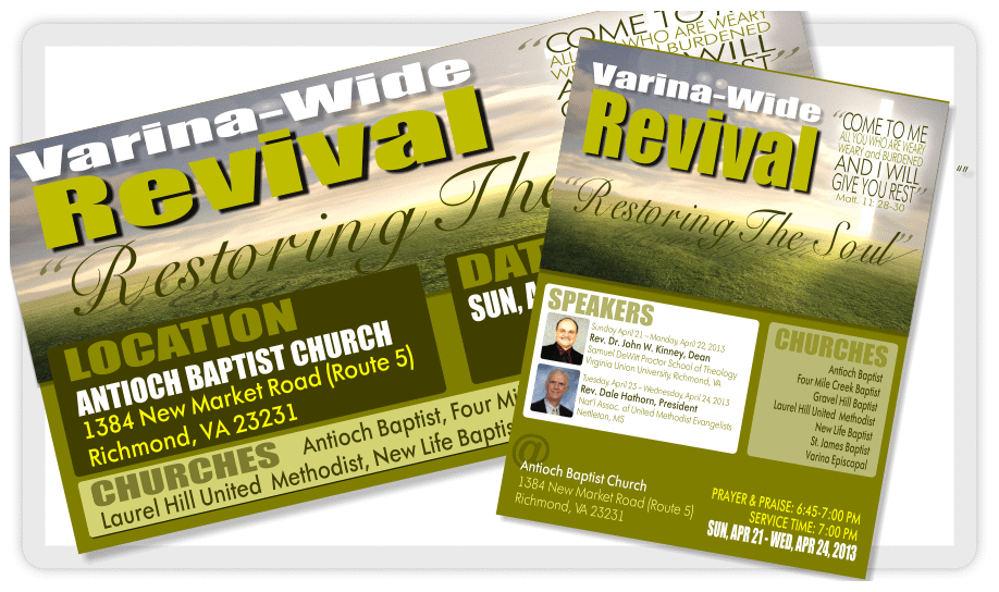 Church Homecoming Program Design